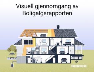 Visuell gjennomgang av boligsalgsrapporten